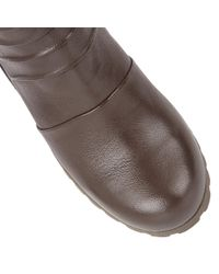 Lotus Brown Zahira Leather Ankle Boots