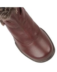 Lotus Brown Nemesia Leather Ankle Boots