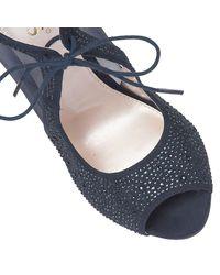 Lotus Blue Vanille Diamante Court Shoes