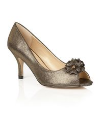 Lotus | Metallic Quill Peep Toe Courts | Lyst