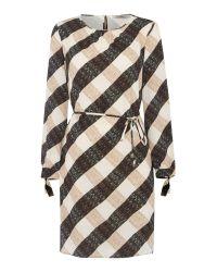 Marella | Multicolor Terzo Large Gingham Print Shift Dress | Lyst