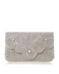 Dune | Metallic Ekelly Beaded Clutch Bag | Lyst