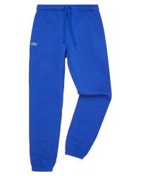 Lacoste | Blue Sweatpants In Solid Fleece for Men | Lyst