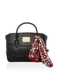Love Moschino Black Plaque Satchel Bag