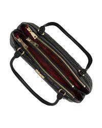 Love Moschino Black Superquilt Top Zip Tote