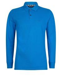 Aquascutum | Blue Hilton Long Sleeve Polo for Men | Lyst