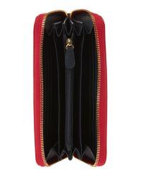 Love Moschino Red Plaque Zip Around Purse