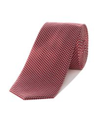 Kenneth Cole | Red Fulton Triangle Geo Silk Tie for Men | Lyst