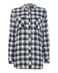 Tommy Hilfiger   Blue Thdw Basic Flannel Check Shirt 12   Lyst