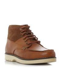 Original Penguin   Brown Jailer Leather Suede Combo Boots for Men   Lyst