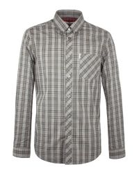 Ben Sherman   Metallic Long Sleeve Classic Tartan Check Shirt for Men   Lyst