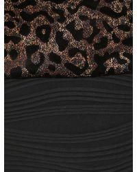 Samya Multicolor Plus Size Leopard Print Bodice Dress