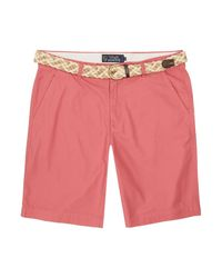Howick | Pink Boston Chino Flat Front Shorts for Men | Lyst