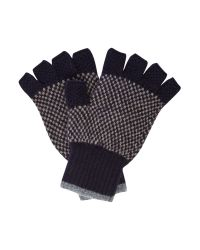 Barbour | Blue Brodie Lambswool Fingerless Gloves | Lyst