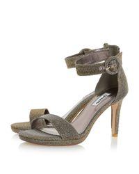 Dune Natural Miami Stiletto Heeled Court Shoes