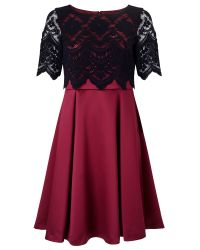 Jacques Vert Purple Petite Lace Layer Prom