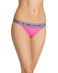 Bonds - Pink Lace Bikini Briefs - Lyst