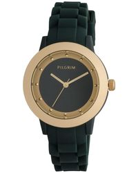 Pilgrim | Green And Gold Plated Watch | Lyst