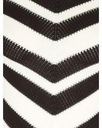 Jane Norman Multicolor Mono Chevron Striped Jumper