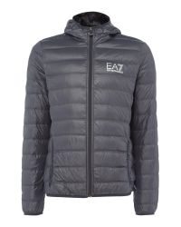 EA7 | Blue Train Core-id Hooded Down Jacket for Men | Lyst