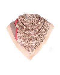 Calvin Klein | Pink Logo Degrade Square Scarf | Lyst