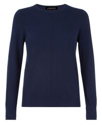 Jaeger | Blue Cashmere Crew Neck Sweater | Lyst