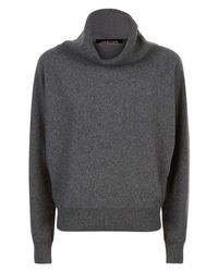 Jaeger | Gray Cashmere Slouchy Sweater | Lyst