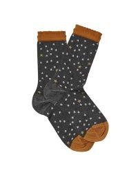 White Stuff - Gray Sparkle Star Smart Sock - Lyst