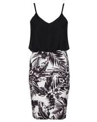 Quiz Multicolor Cream Tropical Chiffon Midi Dress