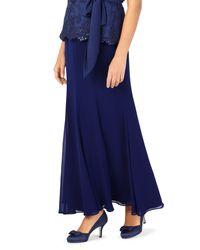 Jacques Vert Blue Grosgrain Maxi Skirt