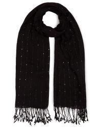 Jacques Vert Black Sequin Stripe Scarf