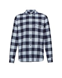 French Connection | Blue Pop Flannel Plaid Shirt for Men | Lyst