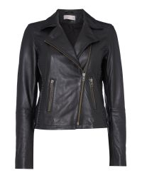 Label Lab | Black Elba Leather Biker Jacket | Lyst