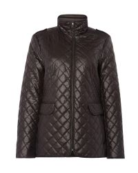 Ellen Tracy | Black Short Quilted Jacket | Lyst