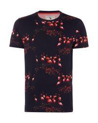 Ted Baker | Blue Flamingo Print T Shirt for Men | Lyst