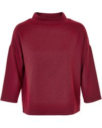 Soaked In Luxury   Red High-neck Top   Lyst