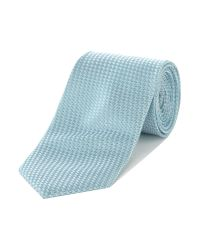 Ted Baker   Blue Leysaa Textured Tonal Geometric Tie for Men   Lyst