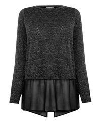 Oasis Black Sparkle Chiffon Knit