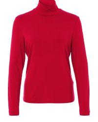 Basler | Red Jersey Turtle Neck T-shirt | Lyst