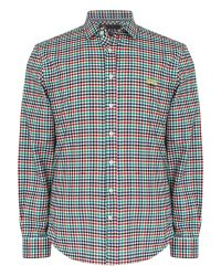 Thomas Pink | Blue Freeman Check Classic Fit Button Cuff for Men | Lyst