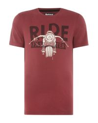 Barbour | Red Ride Faster Short Sleeve T-shirt for Men | Lyst