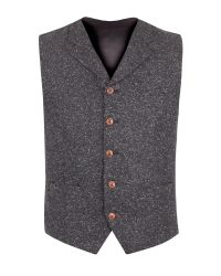 Gibson | Gray Charcoal Donegal Fleck Waistcoat for Men | Lyst