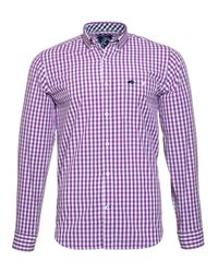 Raging Bull | Purple Signature Gingham Shirt for Men | Lyst