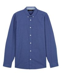 Jaeger | Blue Chambray Shadow Dot Shirt for Men | Lyst