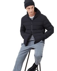Mango Black Lightweight Feather Down Jacket for men