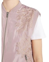 Label Lab - Pink Embroidered Bomber - Lyst