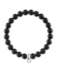 Thomas Sabo | Charm Club Matt Black Charm Bracelet | Lyst