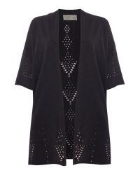 Label Lab   Black Lazer Cut Kimono   Lyst