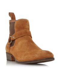 Dune   Brown Cowboy Western Ring Detail Boots   Lyst