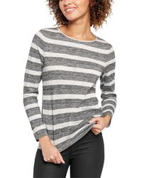 Oasis | Gray Metallic Stripe Cut And Sew | Lyst